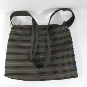 Zip It Large Olive Green Crossbody Messenger Bag